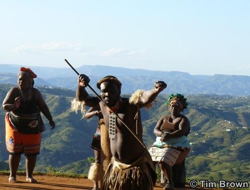 Traditional Zulu Dancing in the Valley of 1000 Hills Phezulu