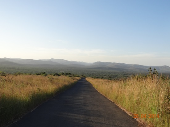 The view down to the Hills at Sunset on our Durban 2 Day Safari Tour to Hluhluwe Umfolozi game reserve