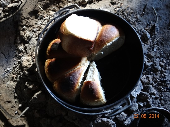 Basotho Bread freshly made in Lesotho on our Sani Pass Day Tour from Durban 22 May 2014