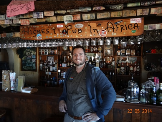Me in the Highest Pub in Africa in Lesotho on our Sani Pass Day Tour from Durban 22 May 2014