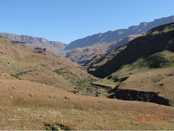 The view before accending the Pass on our Sani Pass Day Tour from Durban 22 May 2014
