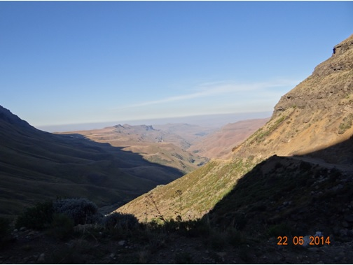 View as we descended the Pass from Lesotho on our Sani Pass Day Tour from Durban 22 May 2014