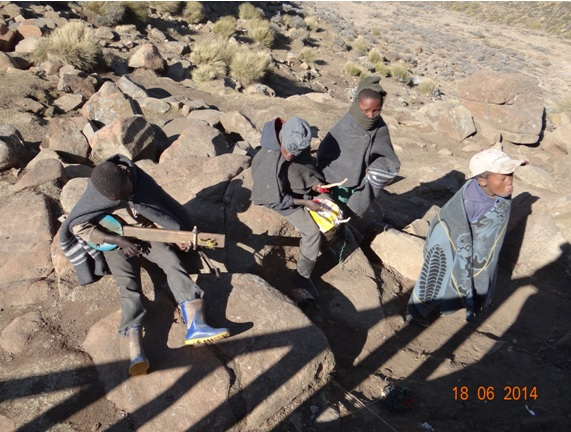 Basotho Boys playing home made instruments at the Top of Sani Pass on our Durban Day Tour to Sani Pass Drakensberg 18th June 2014