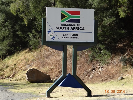 Border post on South African side of Sani Pass on our Durban Day Tour to Sani Pass Drakensberg 18th June 2014