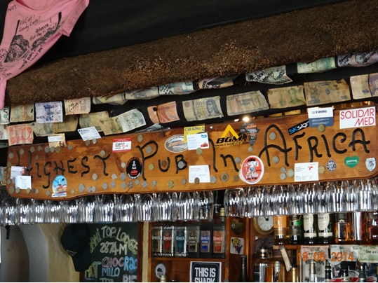 Highest Pub in Africa at the Top of Sani Pass on our Durban Day Tour to Sani Pass Drakensberg 18th June 2014