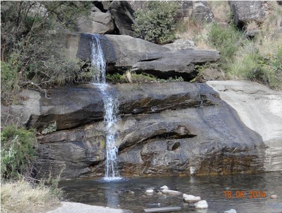 Waterfall when heading up Sani Pass on our Durban Day Tour to Sani Pass Drakensberg 18th June 2014