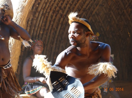 Zulu Dancing on our Durban Day Safari Tour to Tala and Phezulu in the Valley of 1000 Hills 12th June 2014