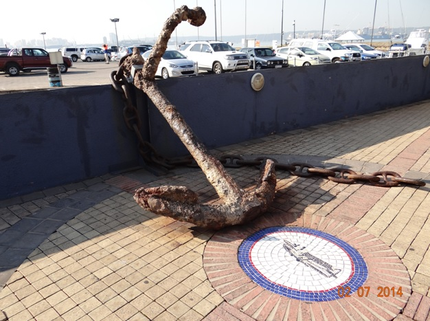 Old Anchor from a ship wreak at Wilsons Warf Durban on our Durban City Tour 2 July 2014
