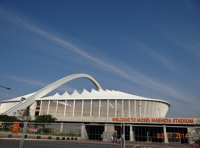 Picture of the Moses Mabida Stadium on our Durban City Tour 2 July 2014