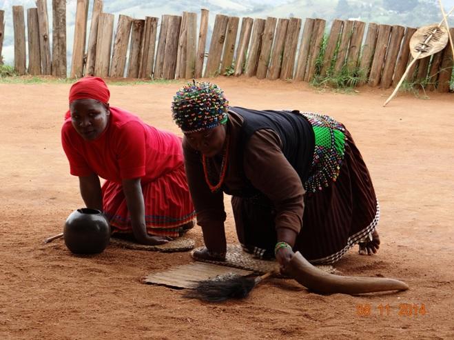 Sangomas at Phezulu Cultural village on our Durban Day Tour