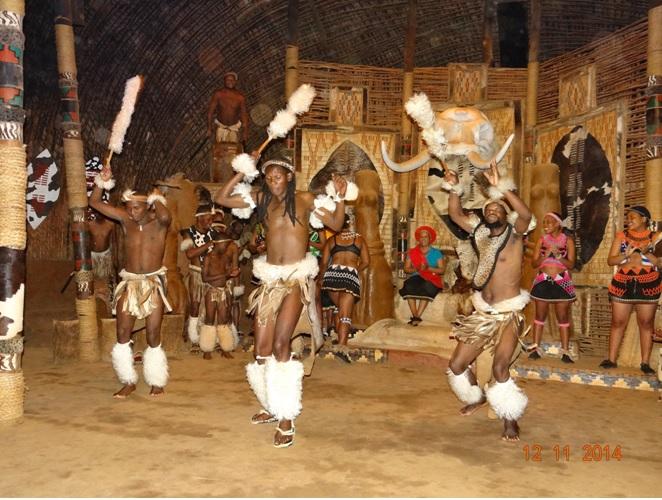 Zulu dancing seen at Shakaland during our Durban 5 Day Safari Tour