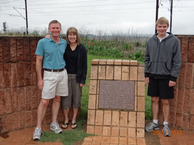 My clients at the Mandela capture site plaque