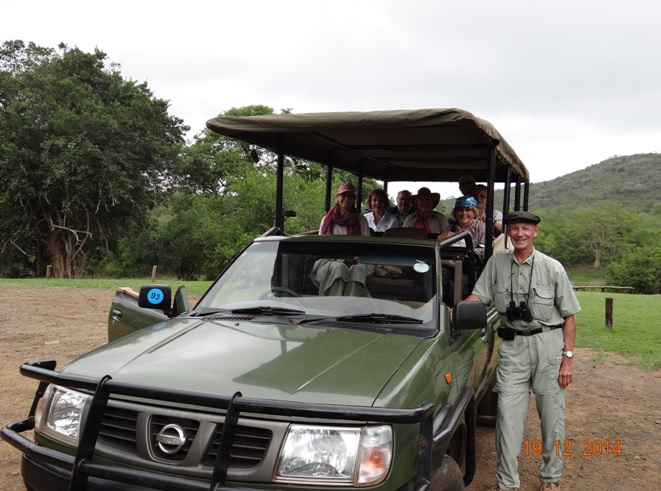 My group off the Ocean Nautica ship on Safari in Hluhluwe Imfolozi game reserve
