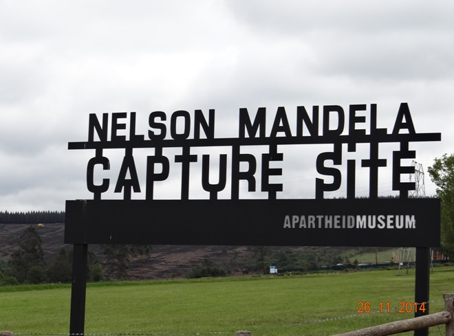 Nelson Mandela capture site seen on our Durban Drakensberg and Midlands Tour
