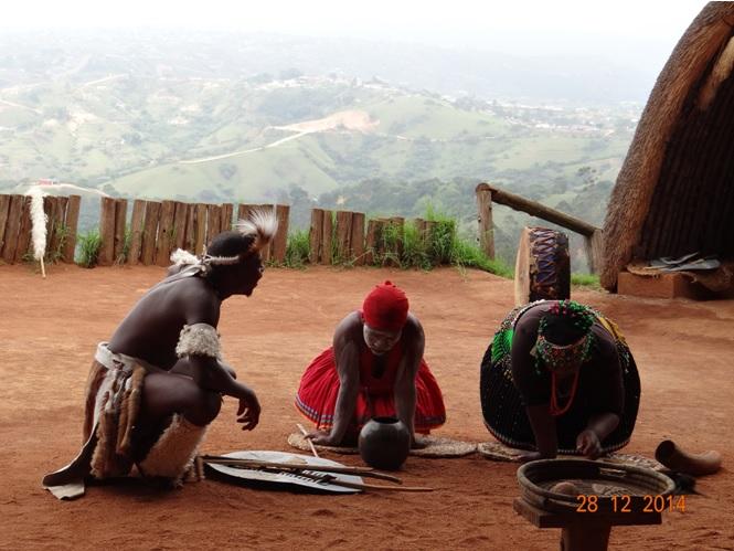 Sangomas read a Zulu mans fortune