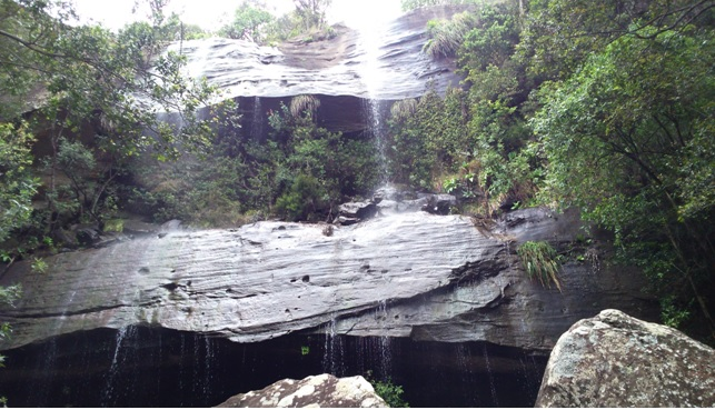 Tiger Falls in the Northern Drakensberg during our hiking tour from Durban