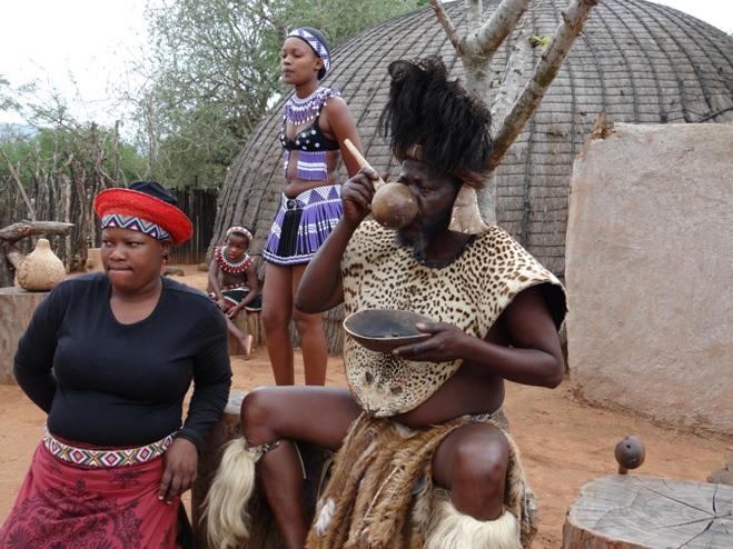 Zulu Chief samples the Zulu beer