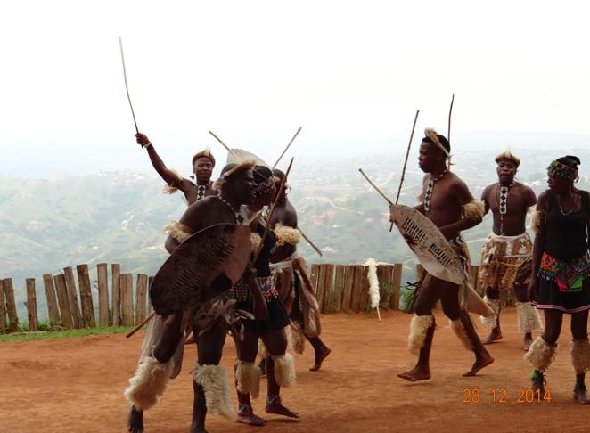 Zulu dancing on our Durban day safari tour