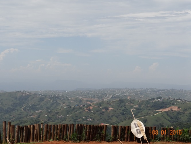 Durban day tour, view over the valley of 1000 hills