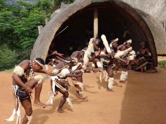 Zulu dancing seen on our Durban day safari