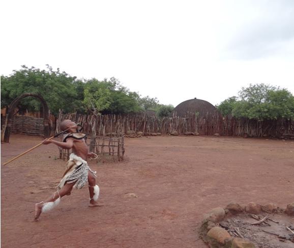KwaZulu Natal safari tour from Durban; Zulu spear throwing