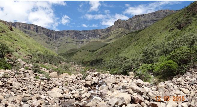 Drakensberg day tour, Sani Pass, View up the pass