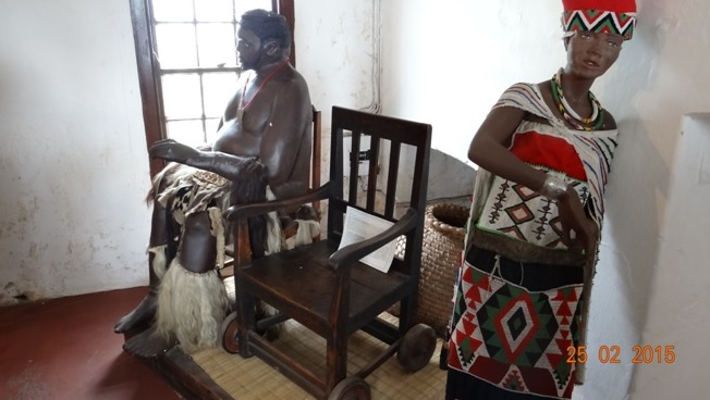 Durban 5 Day Tour; King Mpandes wheel chair