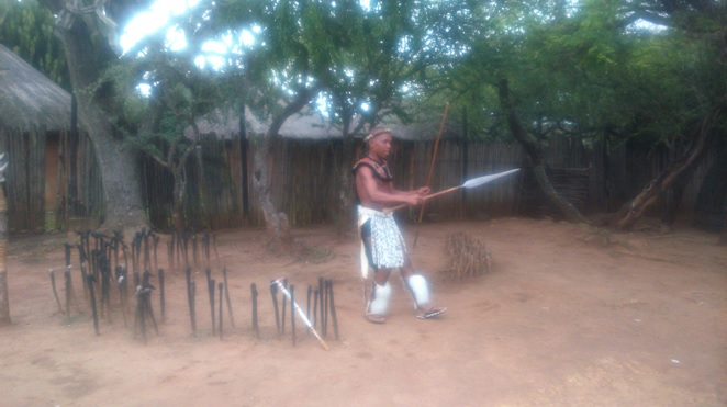 Durban 5 Day Tour; Zulu weapon display
