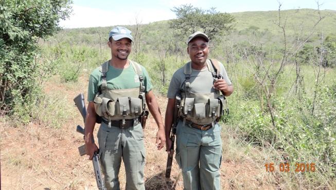 Durban day safari tour; Antipoaching team