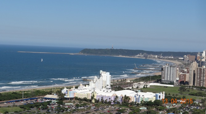 Durban half day tour; Best view of Durban from the Stadium roof