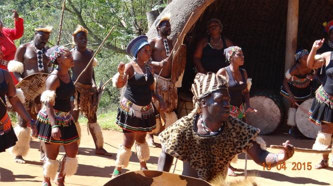 Durban half day tour; Zulu dancing