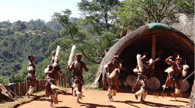 Durban half day tour; Zulu men dancing