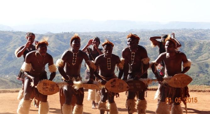 Durban day tour for Ocean Princess Cruise; Small shield dance