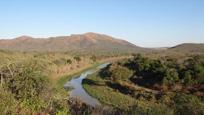 Durban 2 day safari; View over Hluhluwe river