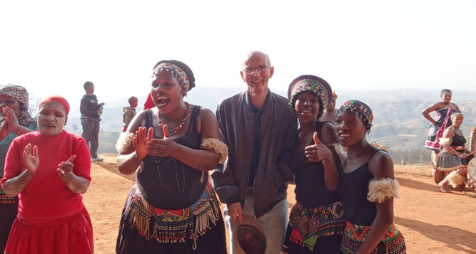 Durban private tour; James with the Zulus
