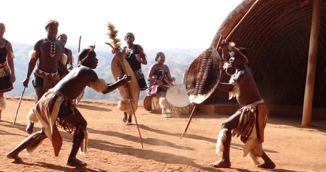 Durban private tour; Zulu dancing at Phezulu