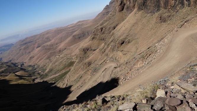 Sani Pass Tour; View down Sani Pass