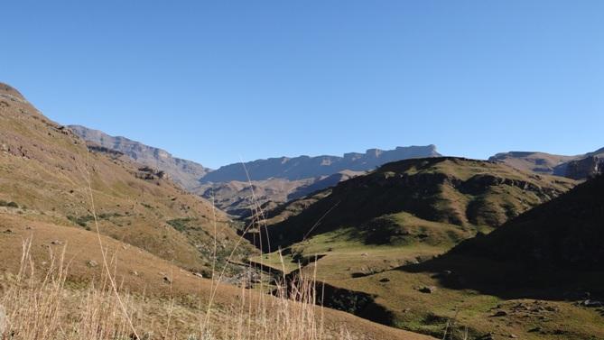 Sani Pass Tour; View up Sani Pass