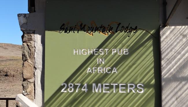 Drakensberg tour, Highest pub in Africa