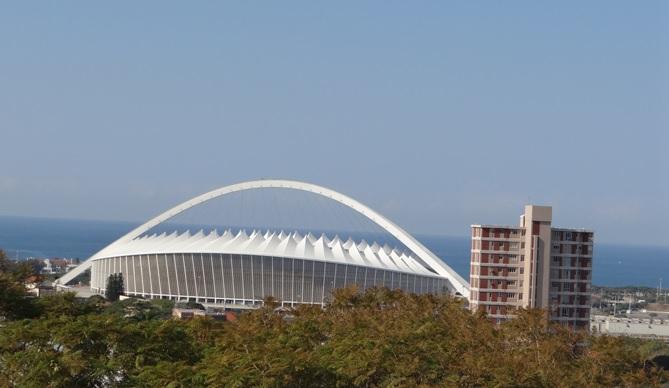 Durban city tour; Moses Mabida stadium