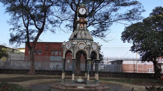 Durban city tour; Vasco da Gama clock in Durban