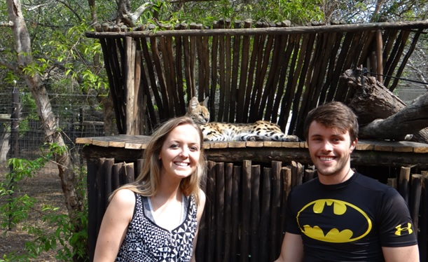 Durban overnight safari; My clients with the Serval