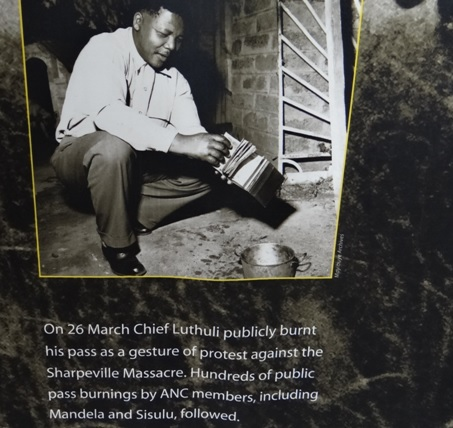 Drakensberg tour, Mandela capture site; Mandela burns his pass