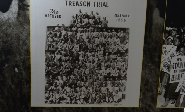 Drakensberg tour, Mandela capture site; Treason trial 1956