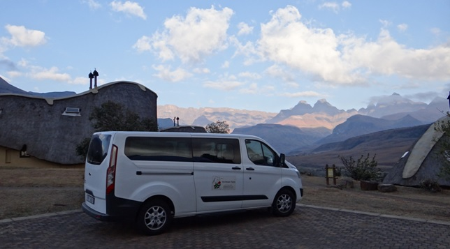 Drakensberg tour, View of Cathedral peak