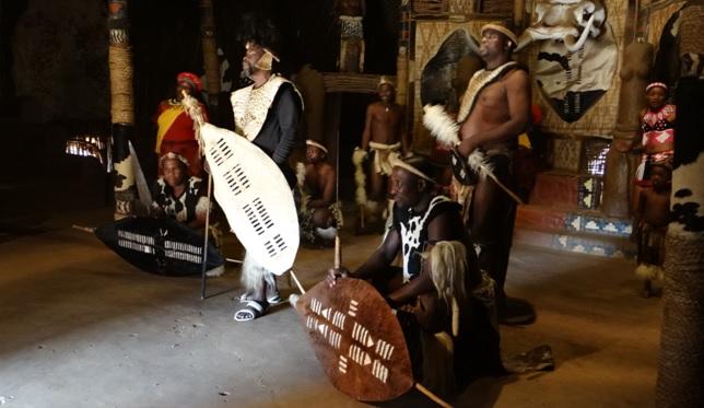 Shakaland tour; The farewell after the Zulu dancing
