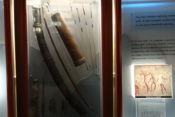 Drakensberg tour; Bushman weapons