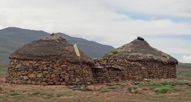 Drakensberg tour; Basotho homes