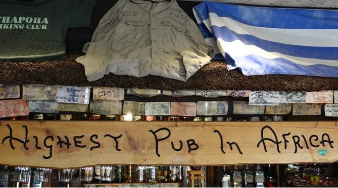 Drakensberg tour; Drakensberg Highest Pub in Africa