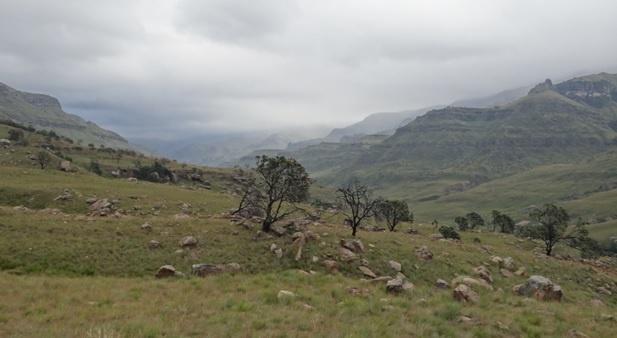 Drakensberg mountains tour, View of the Drakensberg